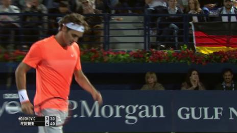 Video «Tennis: Federer - Djokovic, Live-Highlights Satz 1» abspielen