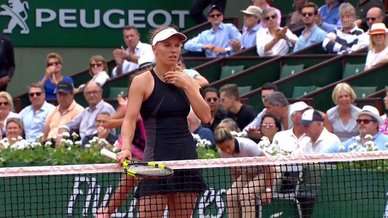 Match- und Satzball bei Wozniacki-Collins