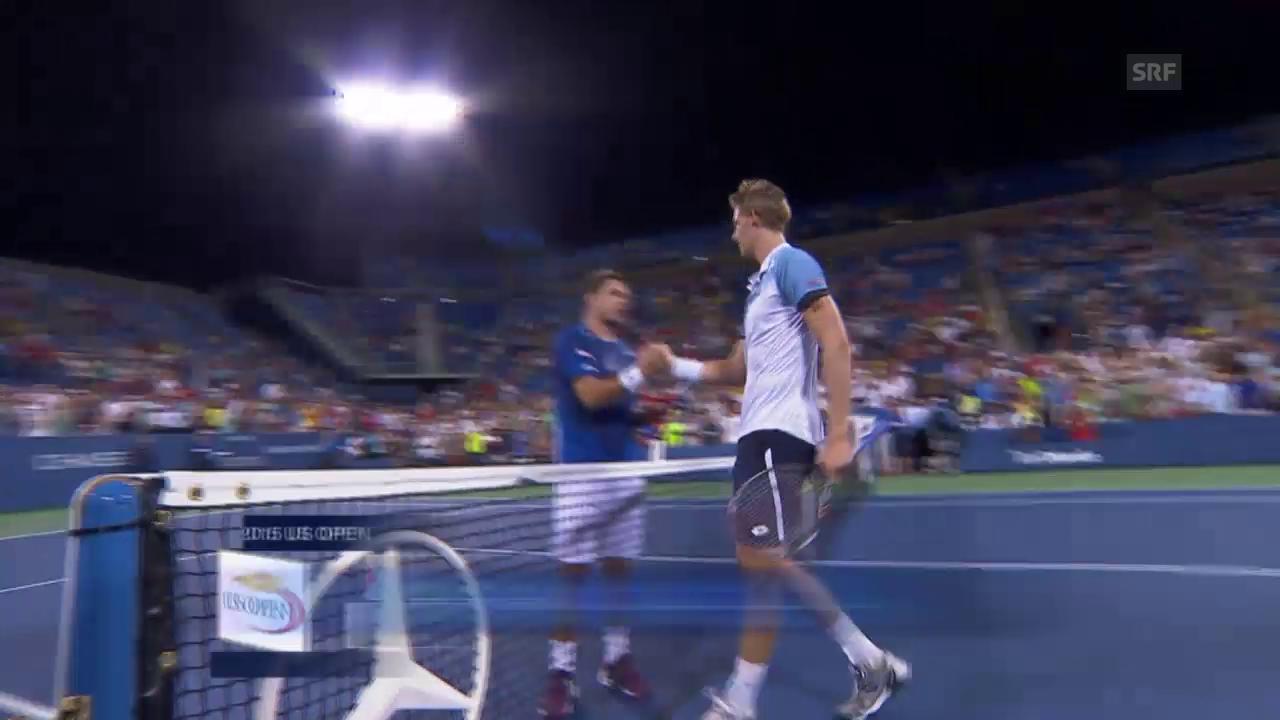 Tennis: US Open, Wawrinka - Anderson