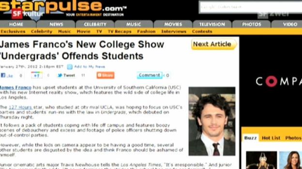 Video «James Francos Internetserie «Undergrads»» abspielen