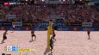 Video «Beachvolleyball: Major-Series-Turnier in Gstaad» abspielen