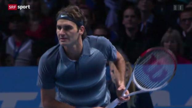 Video «Tennis: Spielbericht Federer - Del Potro» abspielen