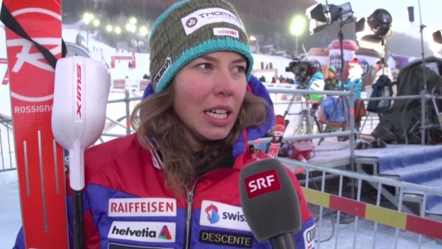 Video «Ski: Weltcup Frauen, Slalom Are, Interview mit Michelle Gisin» abspielen