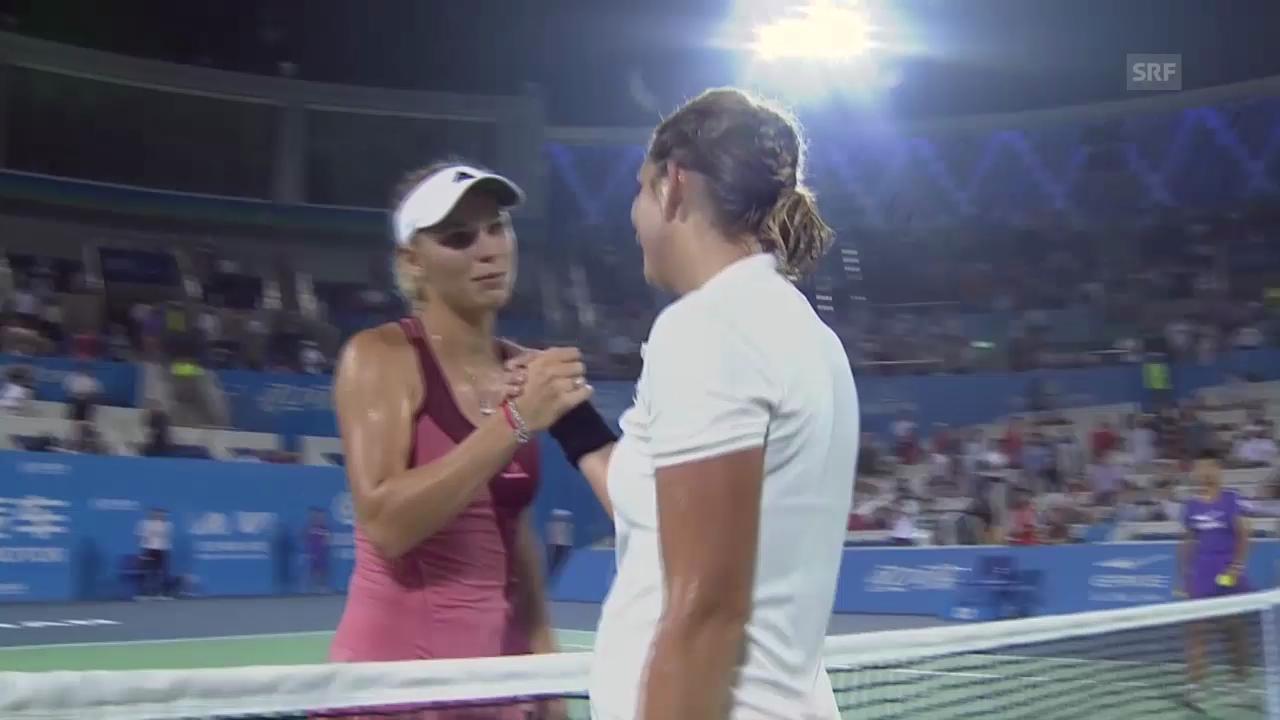 Tennis: Bacsinszky unterliegt Wozniacki knapp