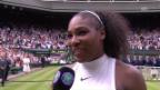 Video «Serena Williams nach dem Wimbledon-Final» abspielen