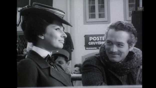 Video ««Ustinov dreht mit Loren und Newman», Filmwochenschau, 22.1.1965» abspielen