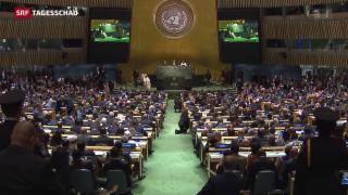 Video «Papst Franziskus warnt vor der UNO-Vollversammlung» abspielen