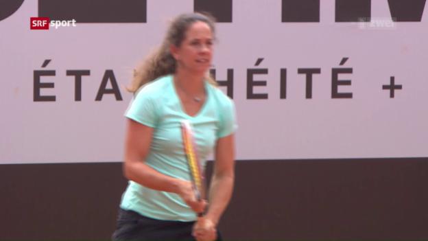 Video «Schnyder gibt in Gstaad ihr Comeback auf der grossen Bühne» abspielen