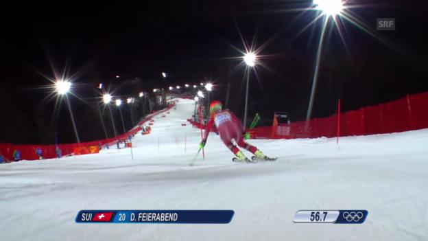 Video «Ski: 2. Lauf Denise Feierabend (sotschi direkt, 21.02.2014)» abspielen