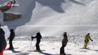 Video «FOKUS: Lawine auf der Skipiste – vier Verletzte in Crans-Montana» abspielen