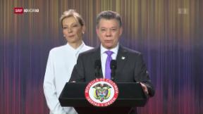 Video «Kolumbianischer Präsident erhält Friedensnobelpreis» abspielen