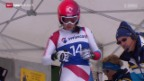 Video «Ski: Schweizer Meisterschaft in St. Moritz, Abfahrt» abspielen