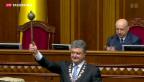 Video «Ukraine: Petro Poroschenko vereidigt» abspielen