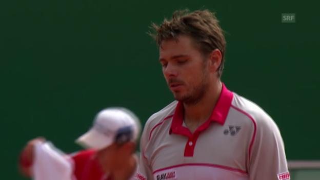 Video «Tennis: ATP Monte Carlo, Wawrinka - Dimitrov, Highlights» abspielen