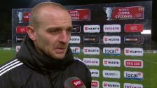 Video «Fussball: Cup-Viertelfinal Aarau - Luzern, Interview Schneuwly» abspielen