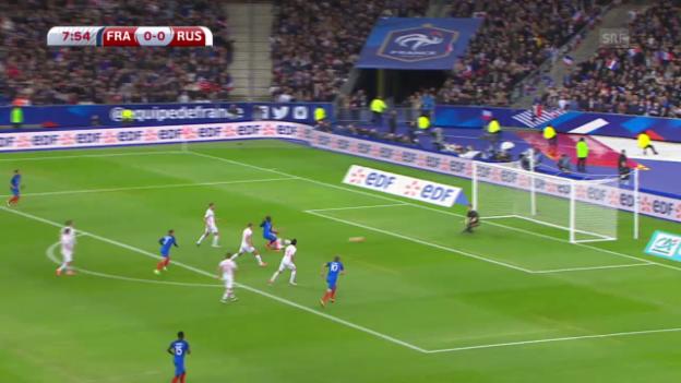 Video «Sechs Tore bei Frankreich - Russland» abspielen