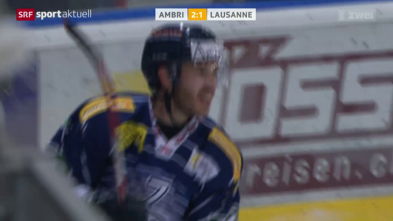 Eishockey: NLA, Ambri-Lausanne