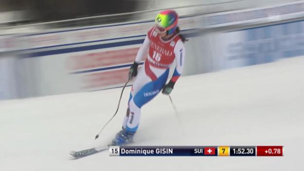 Video «Ski Alpin: Weltcup-Abfahrt Lake Louise, Fahrt von Dominique Gisin» abspielen