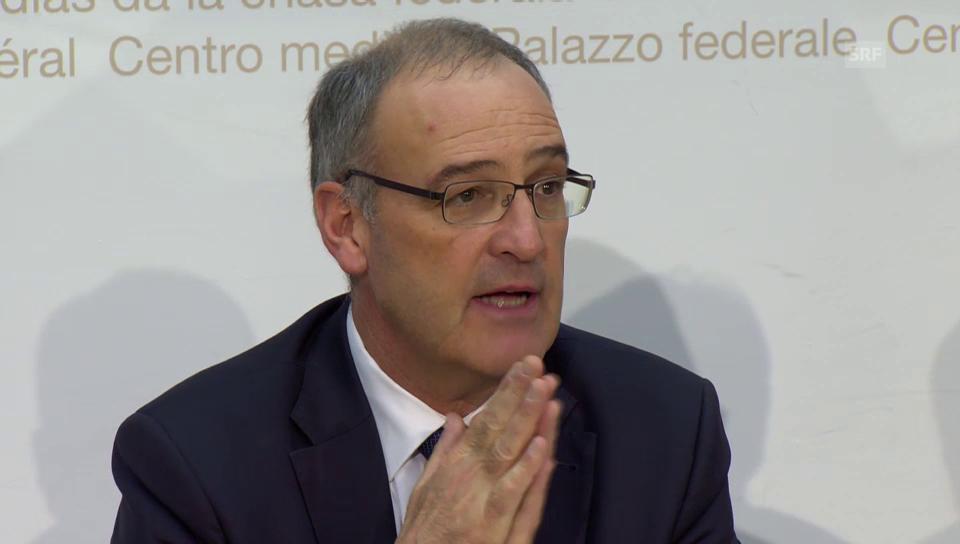 Auftakt Medienkonferenz von Bundesrat Parmelin