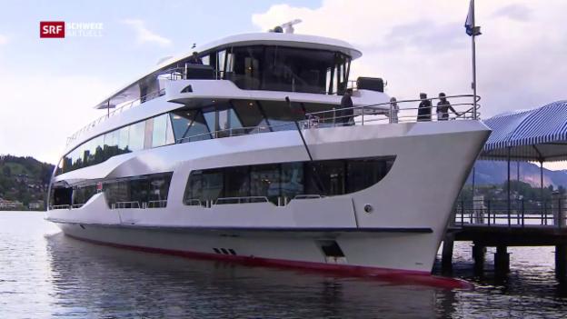 Video «Feierliche Schiffstaufe in Luzern» abspielen