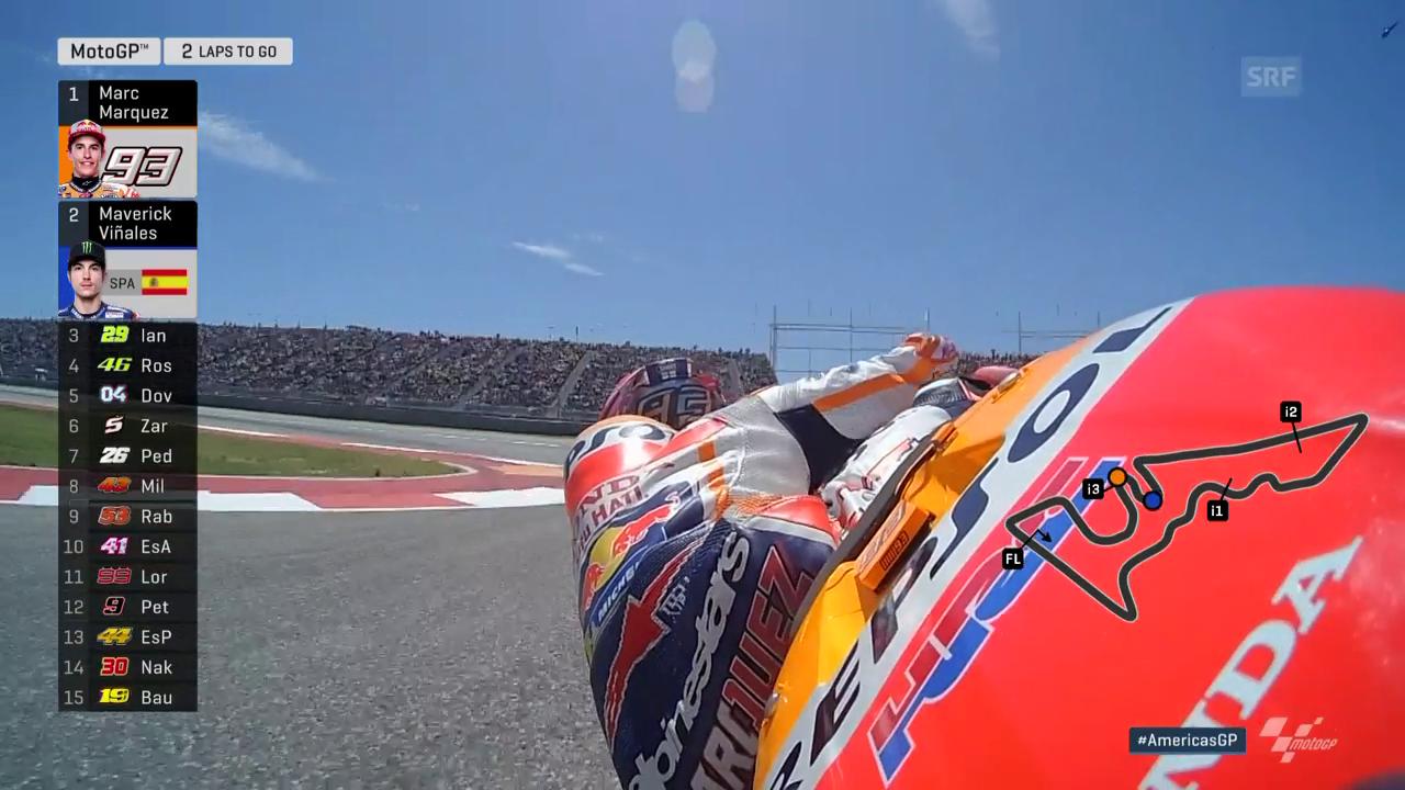 Lüthi neben den Punkten, Marquez ungefährdet