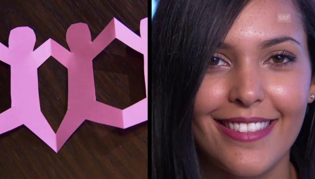 Video «Ranja Fajjari, Nasibe Ali und Julia Egli im Scherenschnitt-Test» abspielen