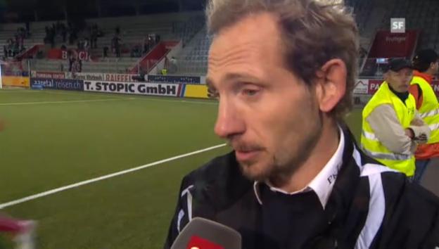 Video «Interview mit Thun-Coach Mauro Lustrinelli» abspielen