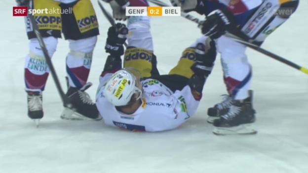 Video «Eishockey: NLA, Genf-Biel» abspielen