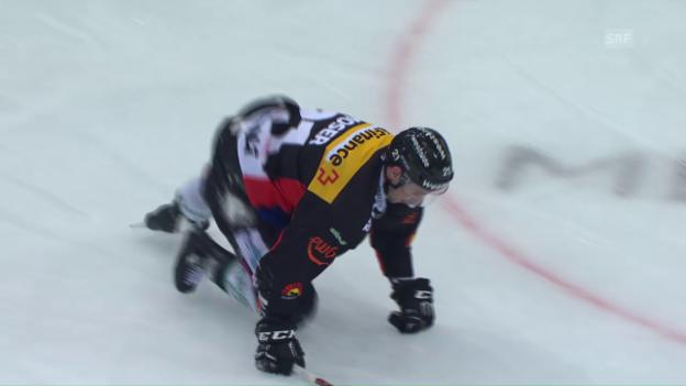 Video «Kufenloser Moser kriecht vom Eis» abspielen