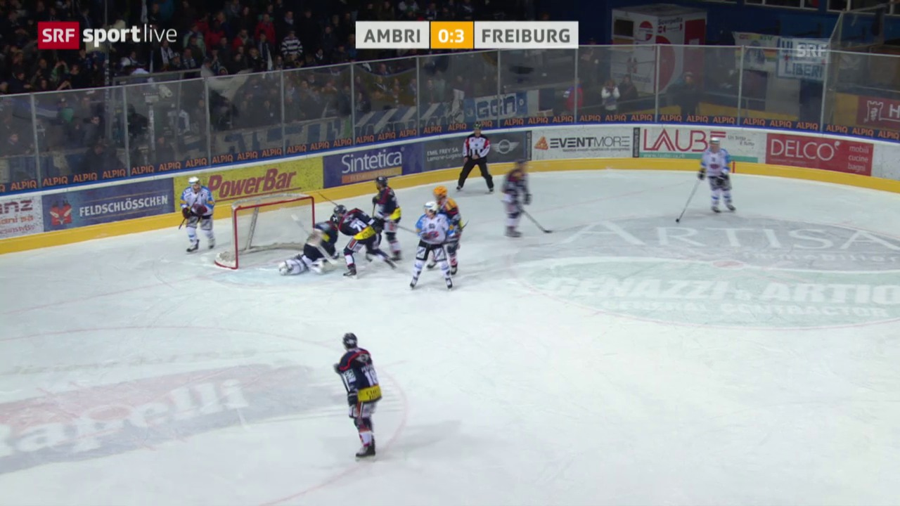 Eishockey: Platzierungsrunde, Ambri - Freiburg