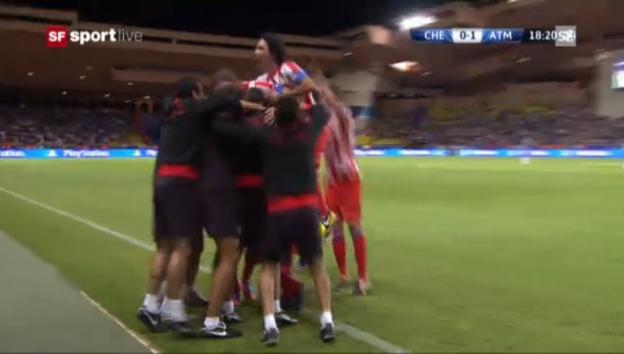 Video «Supercup: Höhepunkte Chelsea - Atlético» abspielen