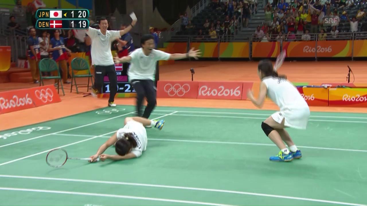 Die Japanerinnen gewinnen den Doppel-Final im Badminton