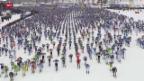 Video «Cologna schlittert bei Wasalauf-Premiere knapp am Podest vorbei» abspielen