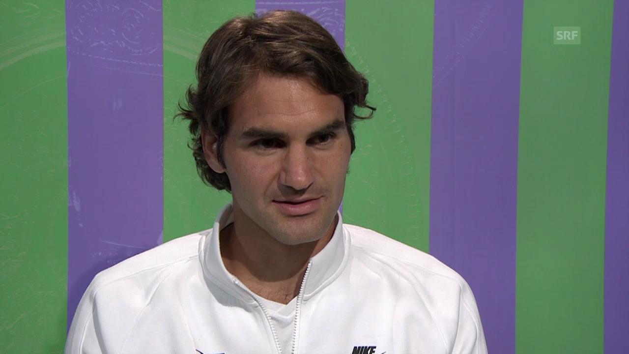 Tennis: Wimbledon, Interview mit Roger Federer
