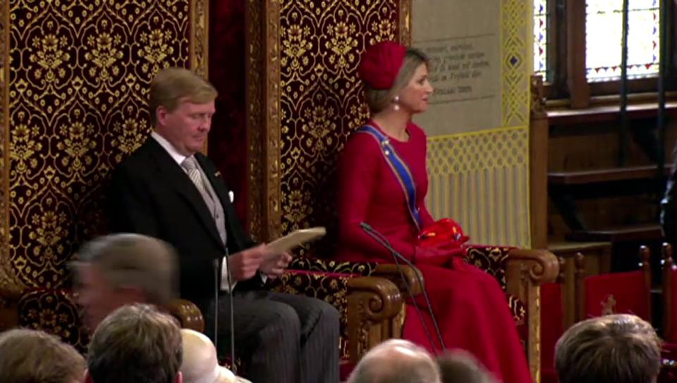 Willem-Alexander und Máxima bei der Parlamentseröffnung