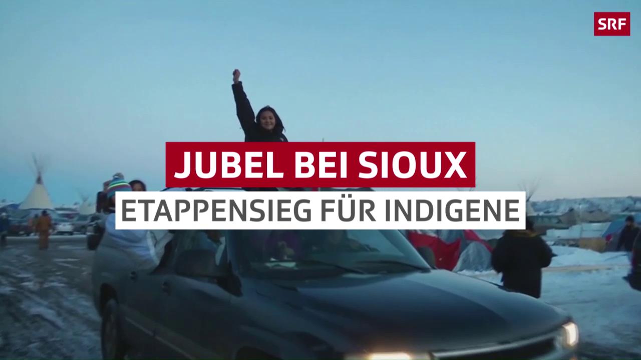 Jubel bei den Sioux