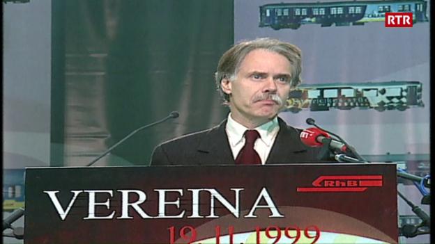 Laschar ir video «Festa per il tunnel dal Vereina»