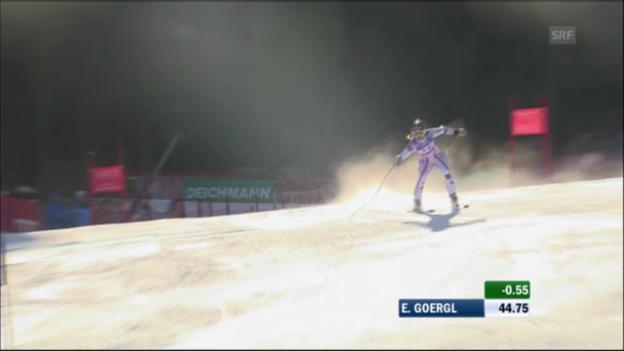Video «WM-Super-G Frauen 2011: Elisabeth Görgl» abspielen