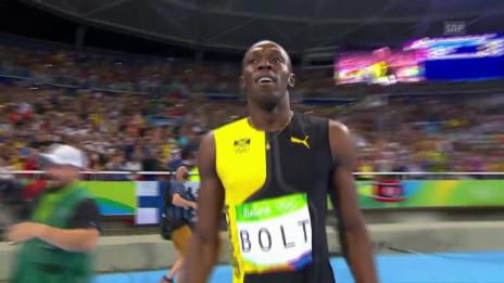 Video «Bolt macht das «Triple-Triple» perfekt» abspielen