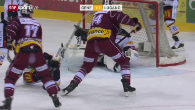 Video «Eishockey: NLA, Playoff-Viertelfinals, Genf - Lugano» abspielen