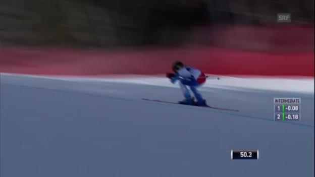 Video «Frauen-Abfahrt in Garmisch: Fahrt von Lara Gut («sportlive»)» abspielen