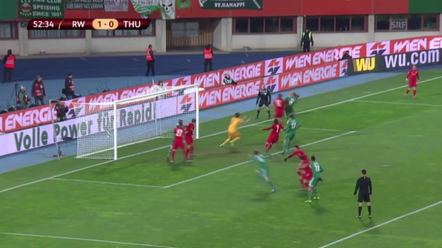 Video «Highlights Rapid Wien - Thun» abspielen