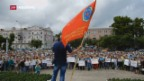Video «Proteste wegen Rentenalter» abspielen