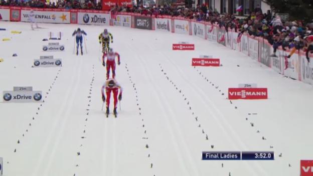 Video «Langlauf: Sprint-Final Frauen» abspielen