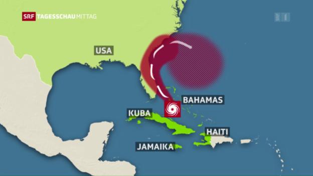 Video «Hurrikan Matthew zieht weiter» abspielen