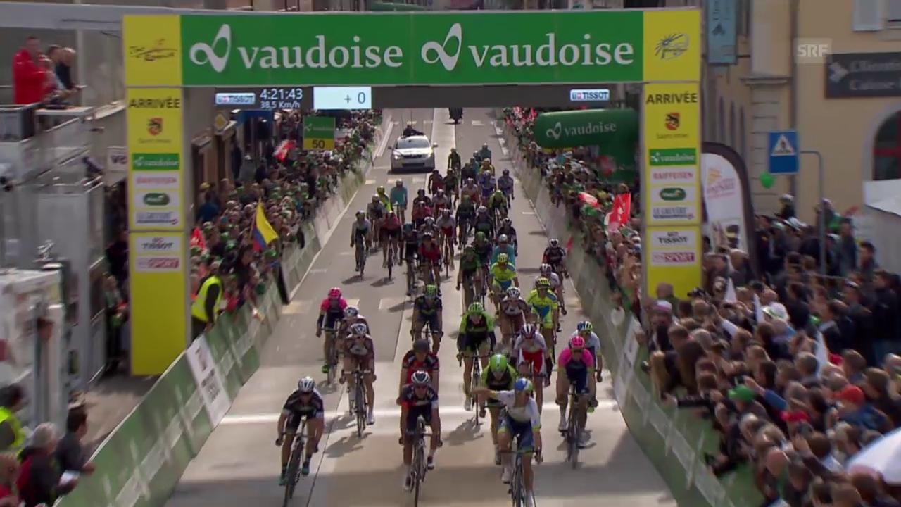 Rad: Tour de Romandie 2015, 2. Etappe, Zieleinfahrt