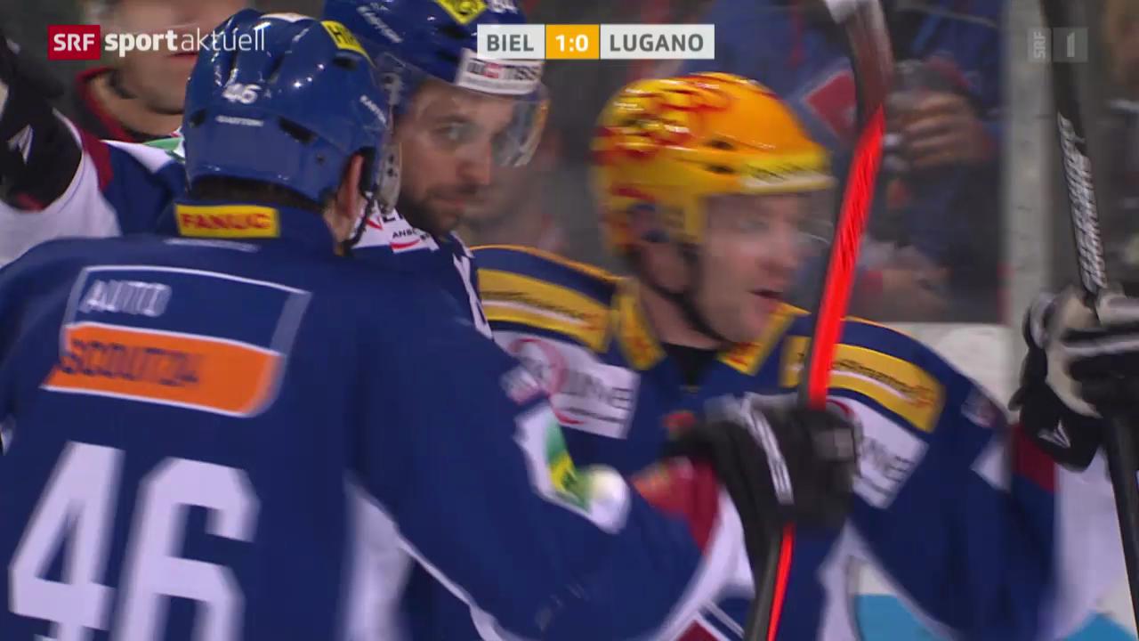 Eishockey: NLA, Biel - Lugano