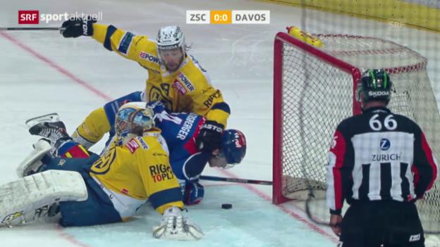 Video «Eishockey: Playoff-Final, Spiel 5, Zusammenfassung ZSC Lions - HC Davos» abspielen