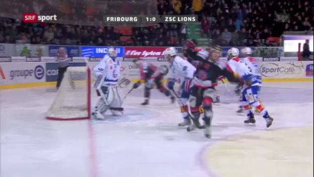 Video «Eishockey: Fribourg - ZSC Lions («sportaktuell»)» abspielen