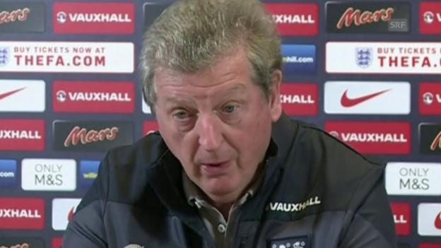 Video «Fussball: Vor England - Litauen, Hodgson und Rooney über Kane» abspielen